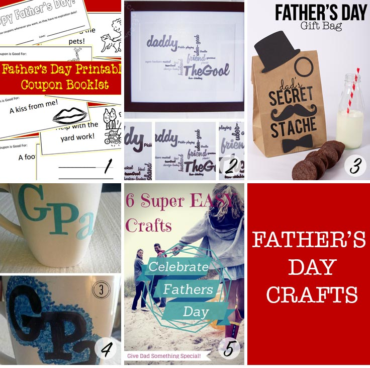 These Father's Day Crafts are so cute - especially those coupons!