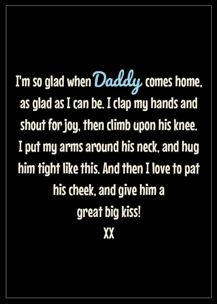Free Father's Day printable from child - pin it and share it