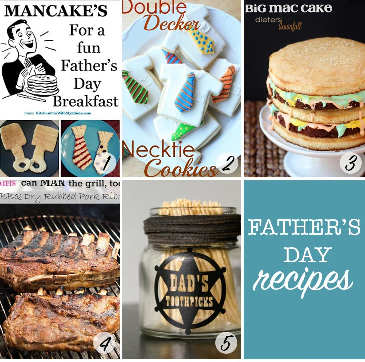 These Father's Day recipes look fabulous - love that cake!