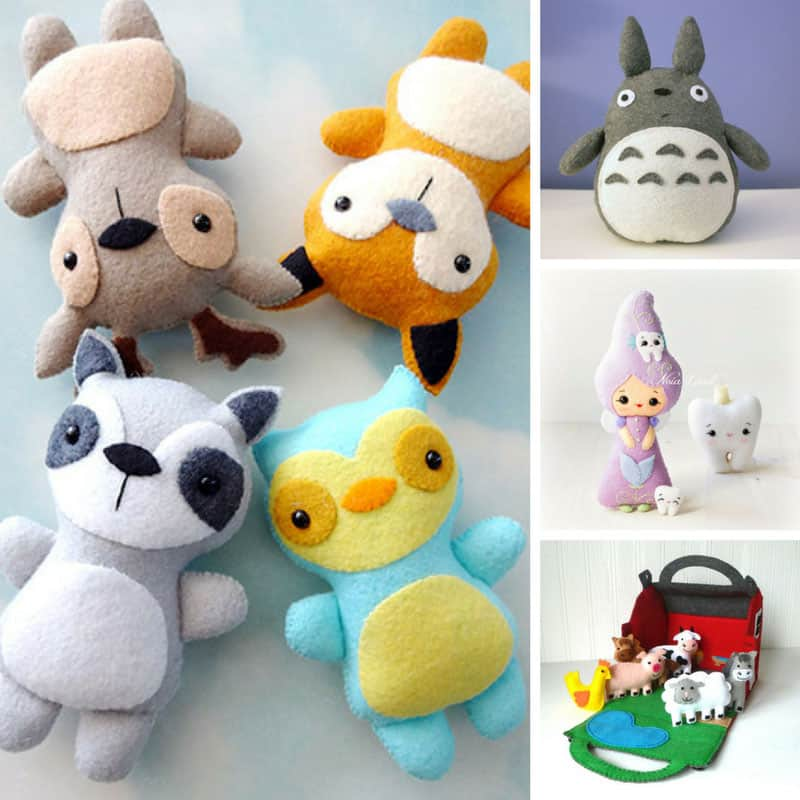 Who could resist these felt toys - they're adorable!