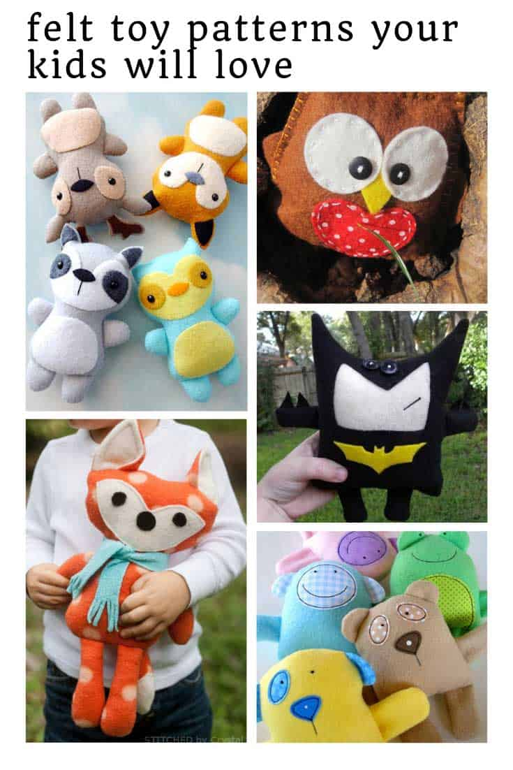 So many ADORABLE felt toy patterns!