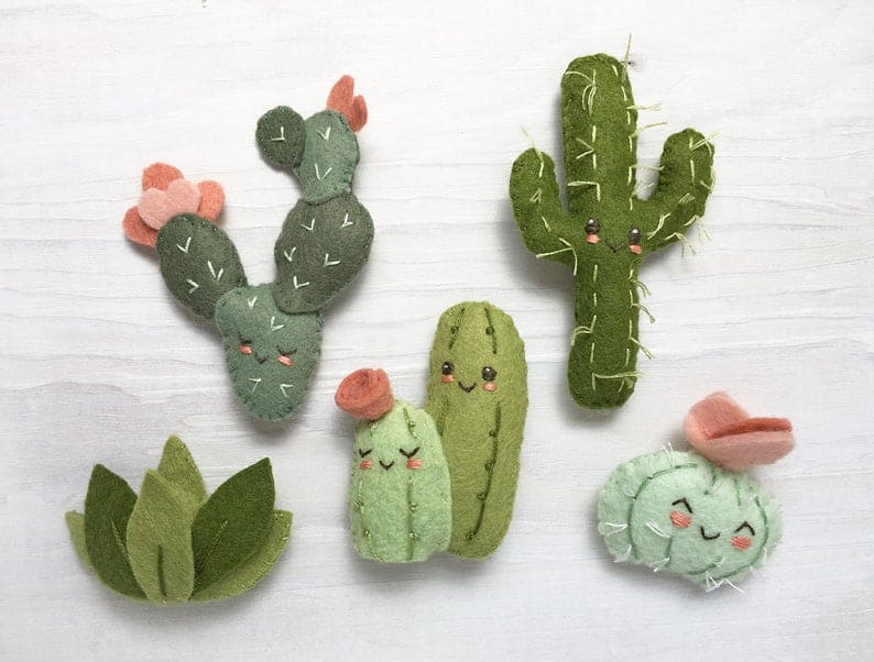 Felt Cactus Friends