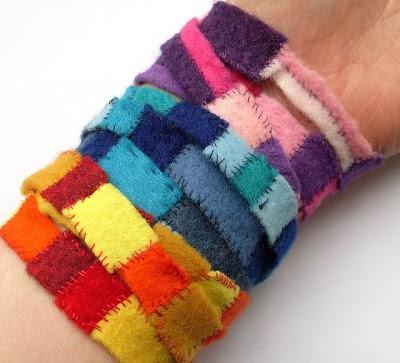 Wraparound Felt Scrap Bracelet