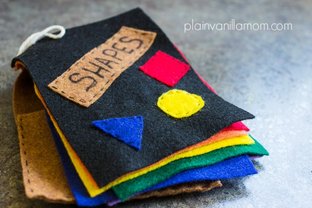 Felt Book of Shapes Tutorial
