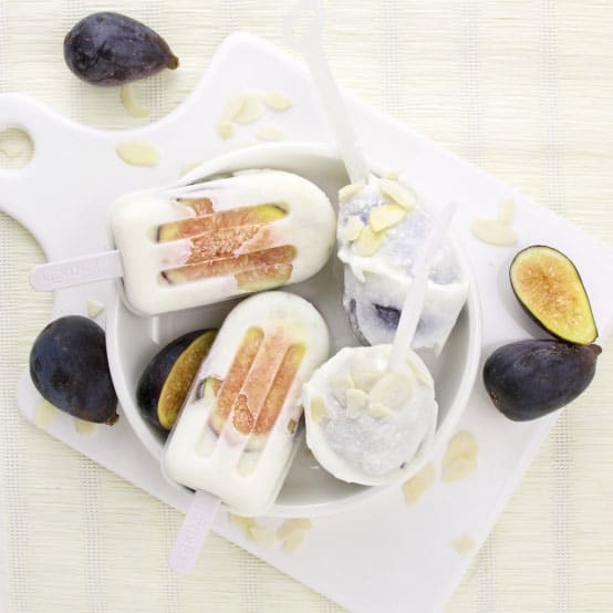 Fig Honey and Goat Cheese Popsicles
