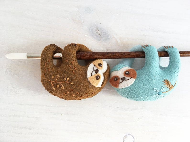 Finger Sloth Felt Toy