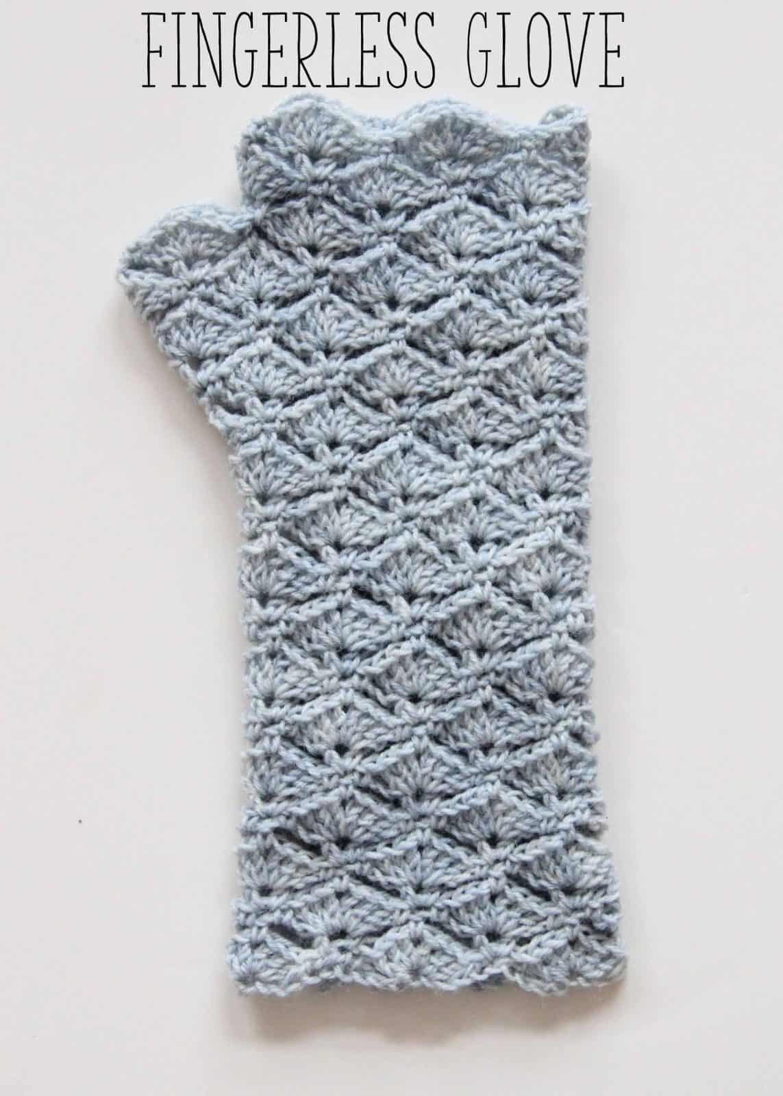 Fingerless Glove Crochet Pattern Intermediate