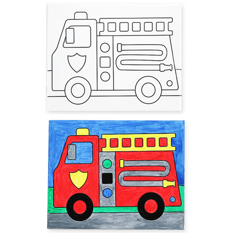 Fire Truck Canvas Art