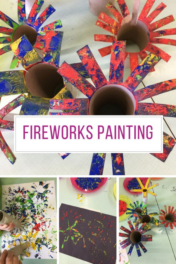 This fireworks painting activity is perfect for the 4th of July!