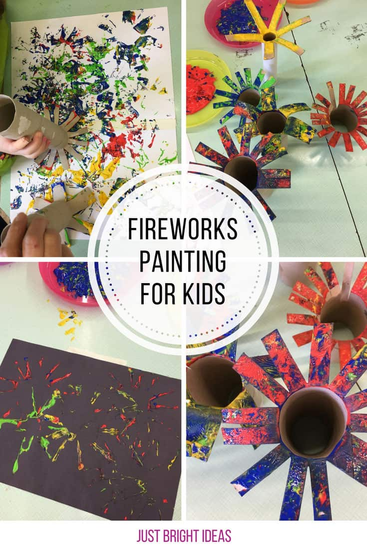 Loving this fireworks painting for kids activity! Thanks for sharing!