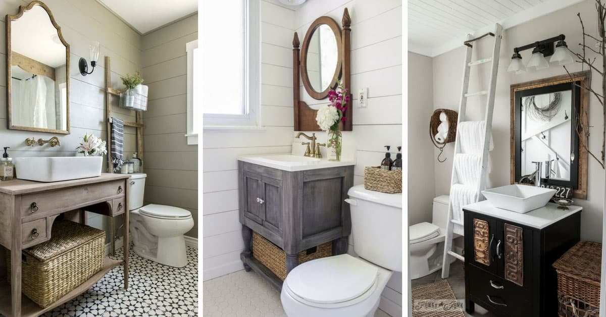 Fabulous Farmhouse DIY Projects To Makeover Your Bathroom Fixer - Fixer upper bathroom remodels