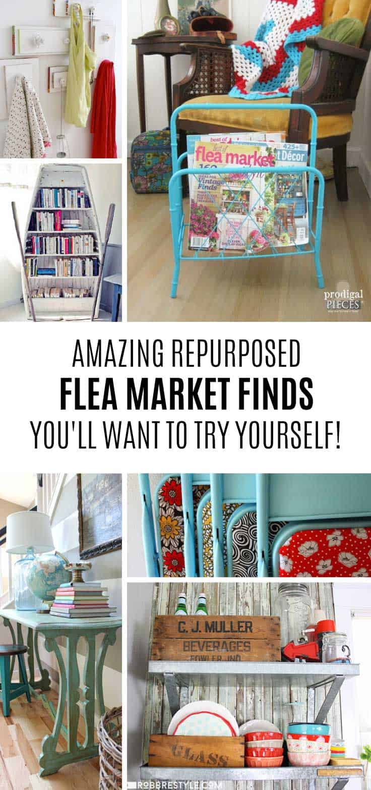 So many fabulous flea market finds to repurpose or upcycle!