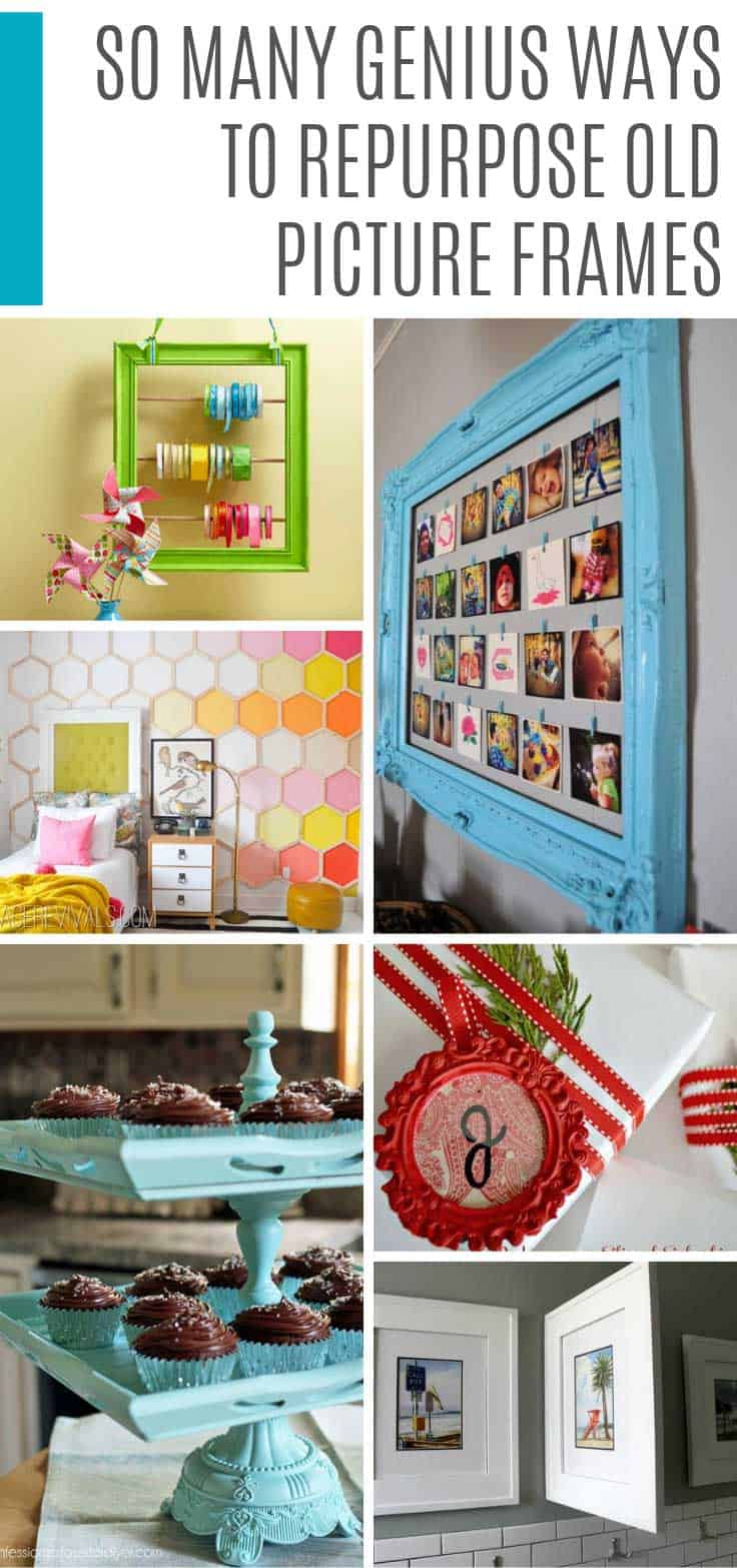 These flea market picture frame makeovers are totally GENIUS! Cheer up your home decor on a budget this weekend!