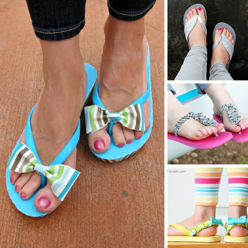 Loving these cute flip flop makeovers!