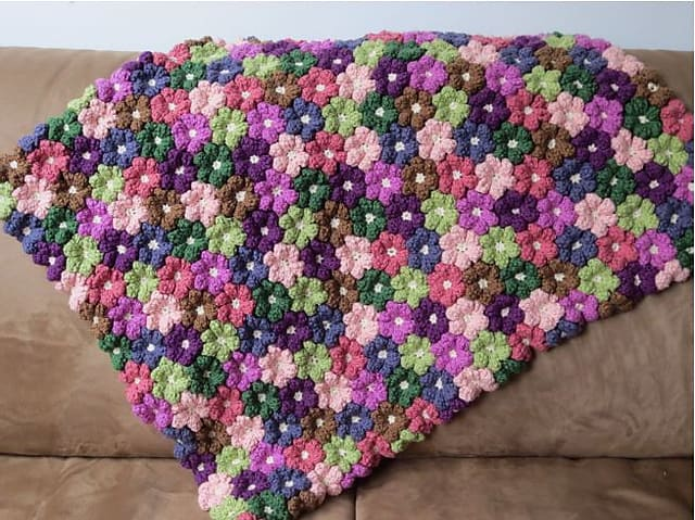 Floral Baby Blanket Crochet Pattern
