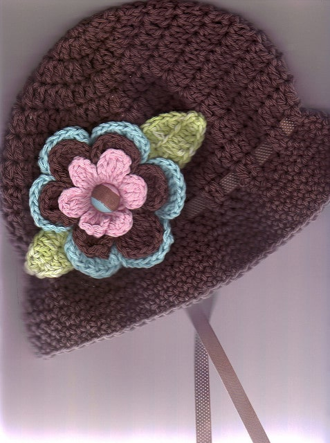 Floral Cloche Hat Crochet pattern