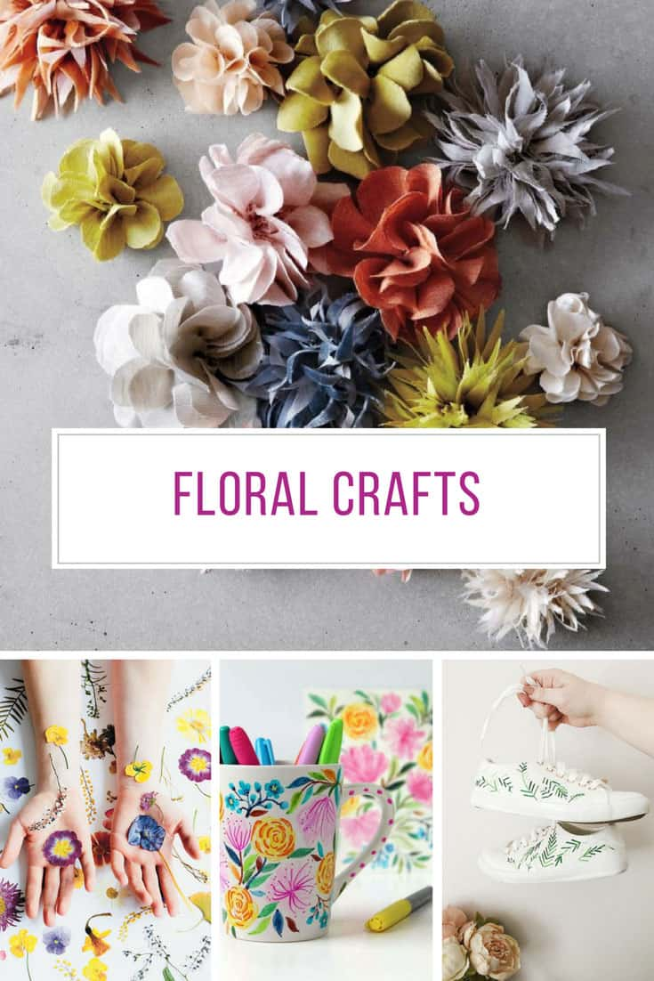 Loving these floral crafts - so many fabulous DIY projects!