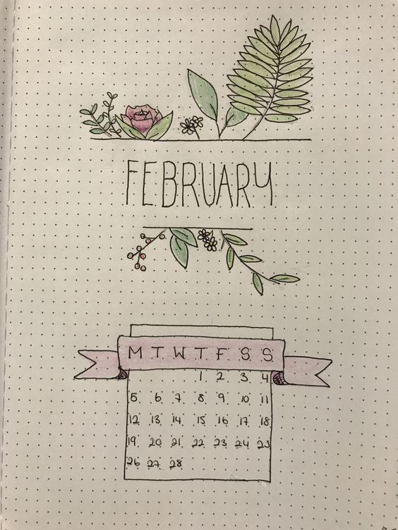 Floral February Cover Page