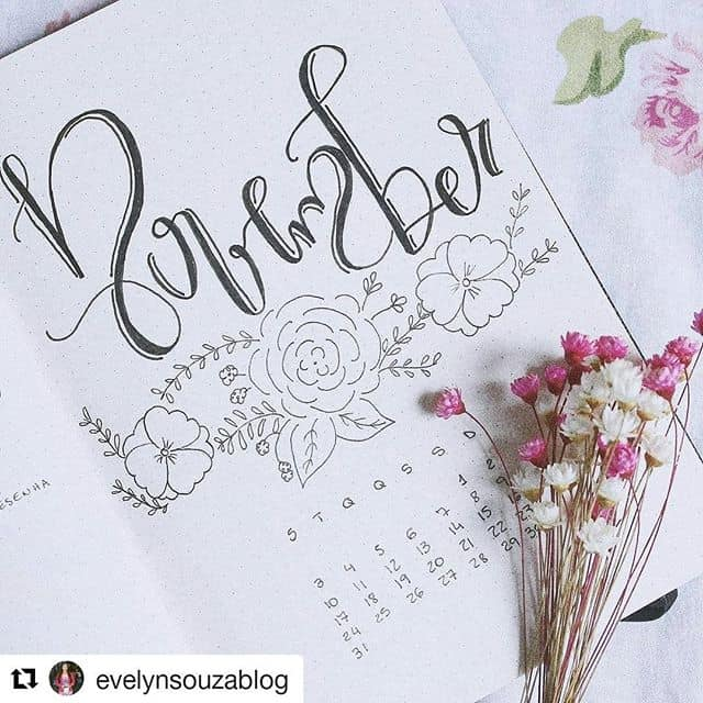 Floral November Cover Page
