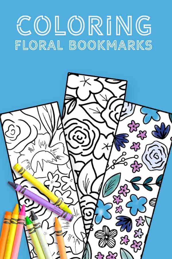 These free printable floral bookmarks are the perfect way to relax and keep your place in your current book!