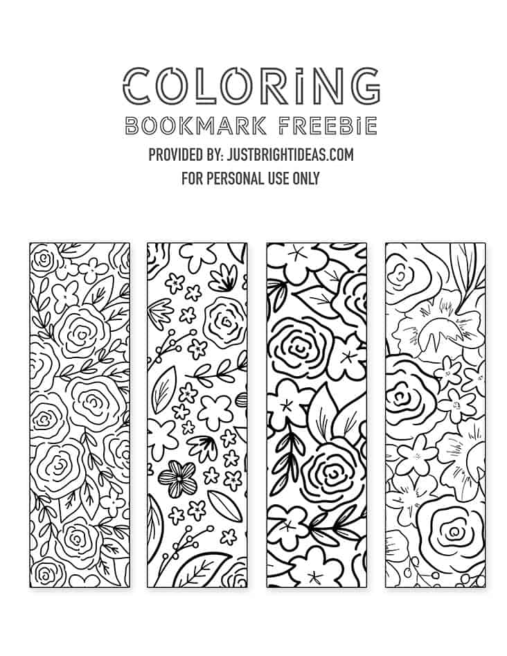 If you love to read you need to download these free printable bookmarks that you can print out and color in for relaxation.