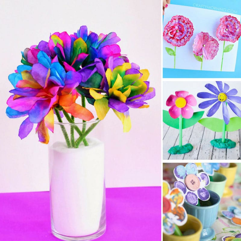 10 beautiful spring flower crafts for kids mightylinksfo Choice Image