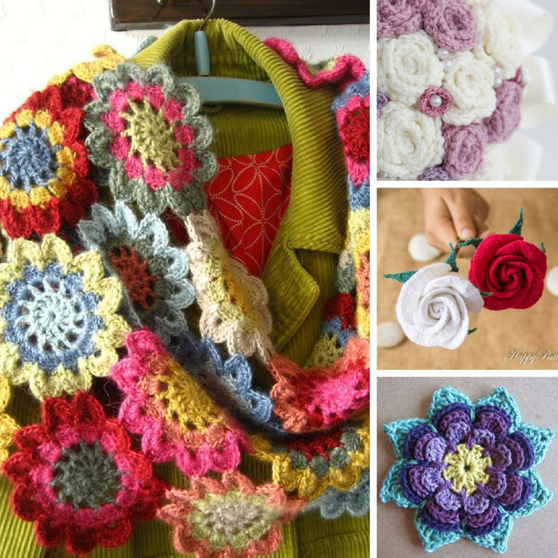 Plenty of flower crochet patterns to see you through the weekend