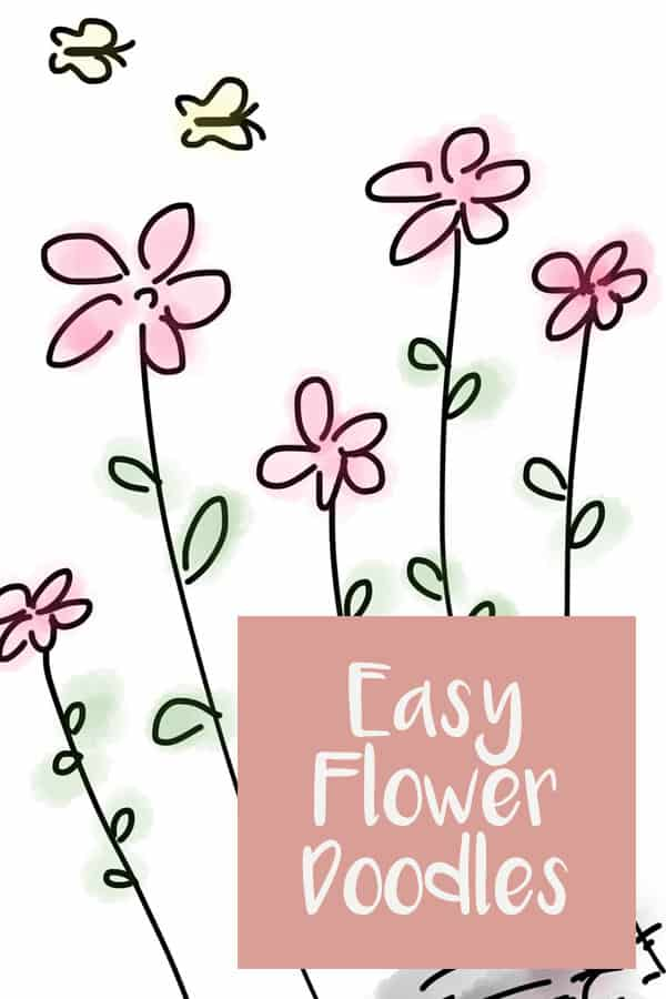 So many cute flower doodling ideas - watch the video tutorials and download the free printable worksheet