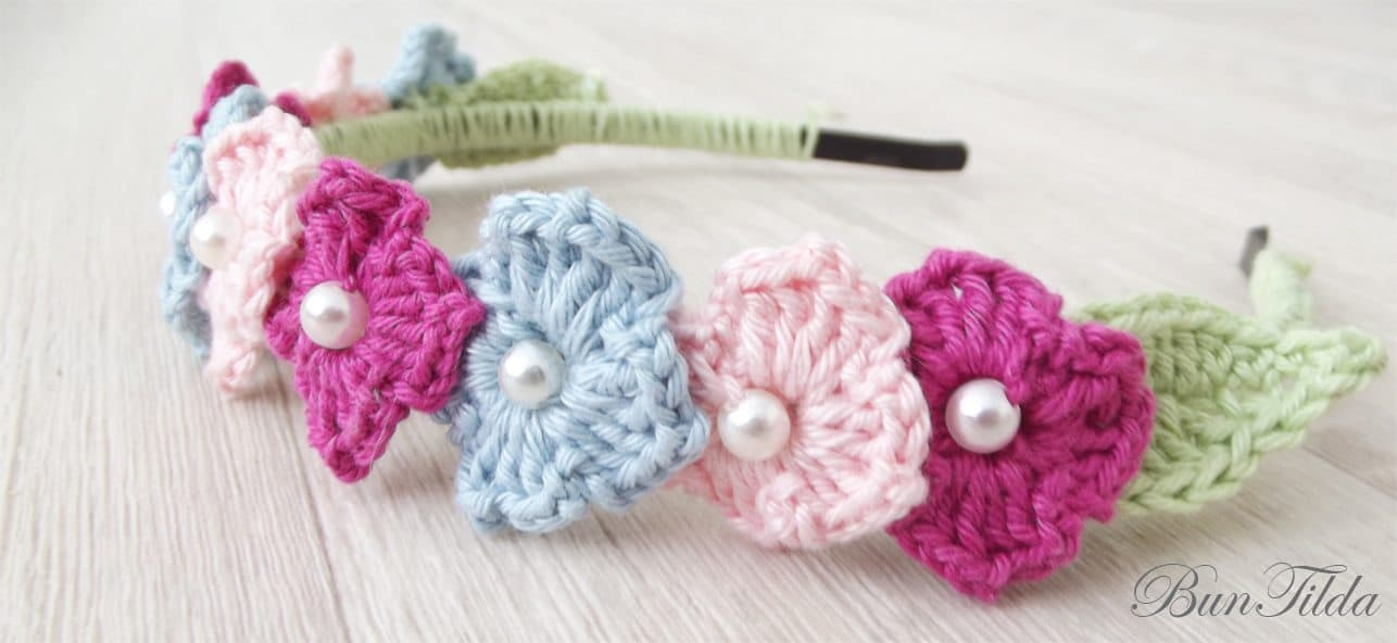 Flower Headband - Crochet pattern