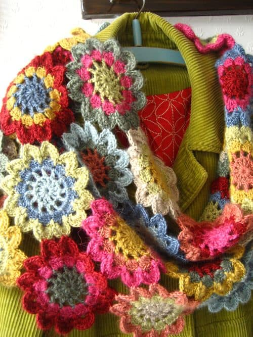Japanese Flower Scarf Crochet Pattern
