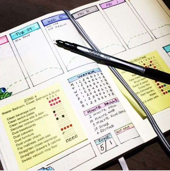 FlyLady Bullet Journal Printable