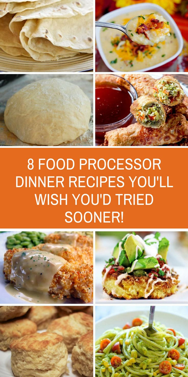 These food processor dinner recipes taste so good! They're super easy to make too since the processor does all the hard work! #dinner #recipes #foodprocessor