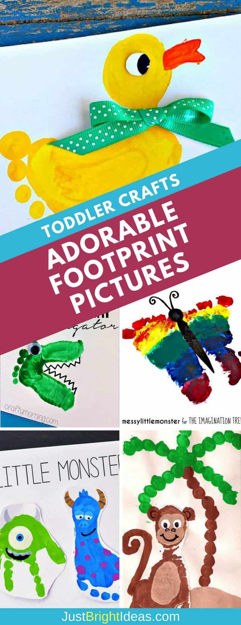 Footprint Crafts for Toddlers