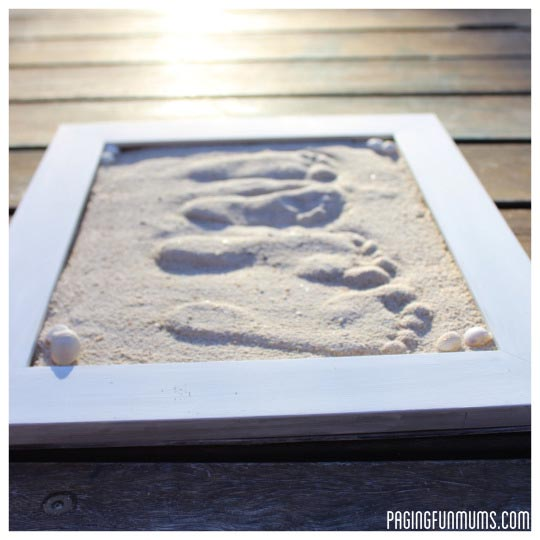 Sand Footprint Craft - Full DIY instructions!