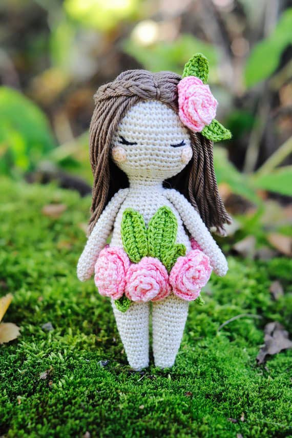 Forest Nymph Crochet Fairy Doll Pattern