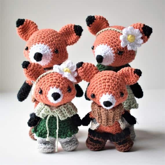 Fox Family Crochet Amigurumi Photo Tutorial