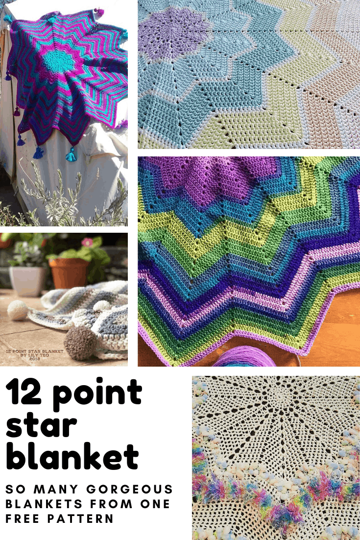 Who knew there were so many ways to turn one free crochet pattern into so many different 12 point star blankets! Wonderful handmade gifts!