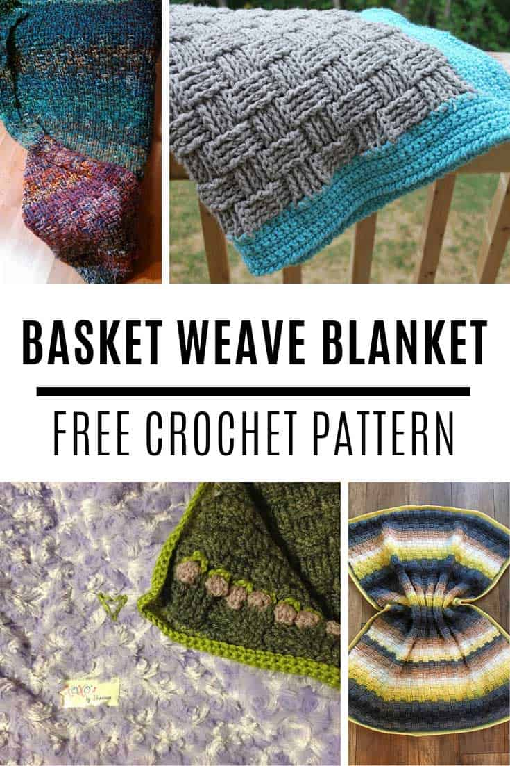 Wow this basket weave baby blanket is GORGEOUS and the crochet pattern is free!
