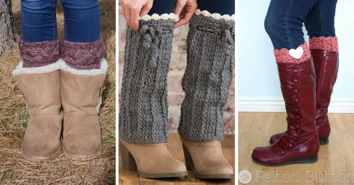 11 Stylish Boot Cuff Crochet Patterns To Add Some Feminine Flair To