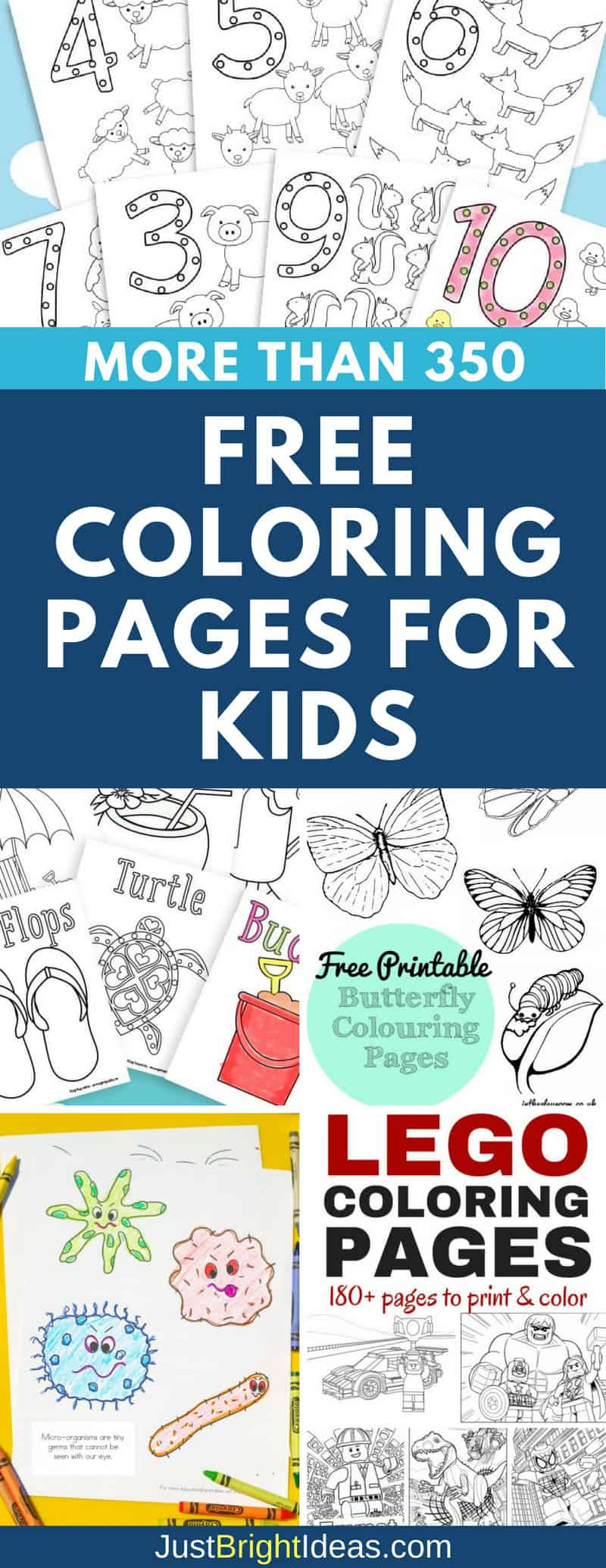 350+ Free Coloring Pages for Kids to Color When They\'re Bored!
