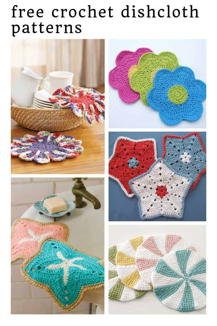 So many fun and free crochet dishcloth patterns to cheer up your sink!