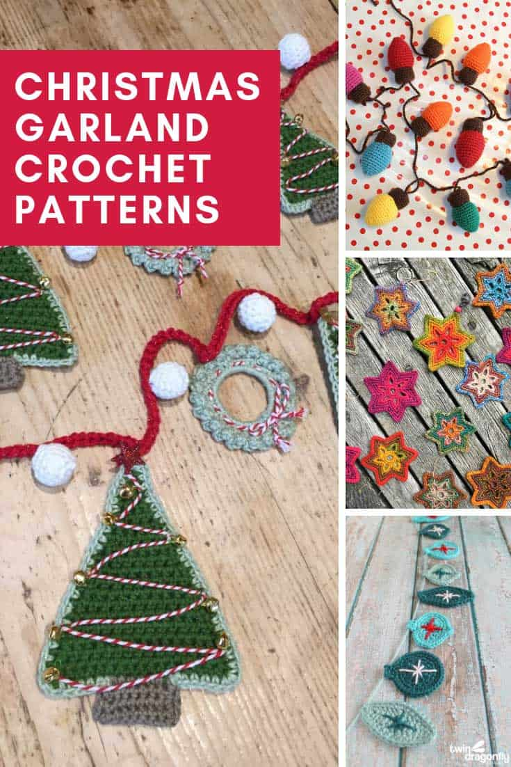 How sweet are the Christmas garlands! I can't believe all of the crochet tutorials are free!