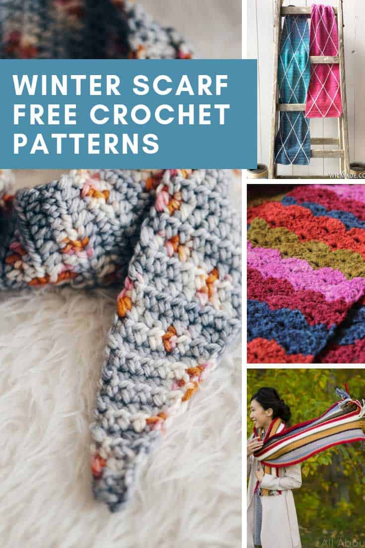 These free crochet winter scarf patterns are GORGEOUS and will keep you warm and cozy - they make great handmade gifts too!