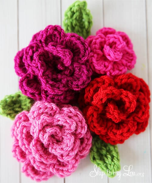 Free Crochet Rose Flower