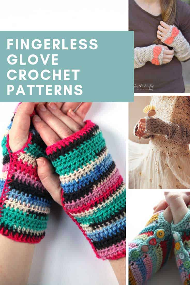 These free fingerless mitten crochet patterns are fabulous and so warm and cozy!