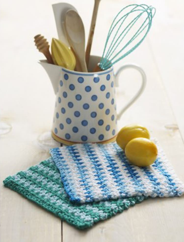 Free Lily Sugar 'n Cream Crochet Dishcloth pattern
