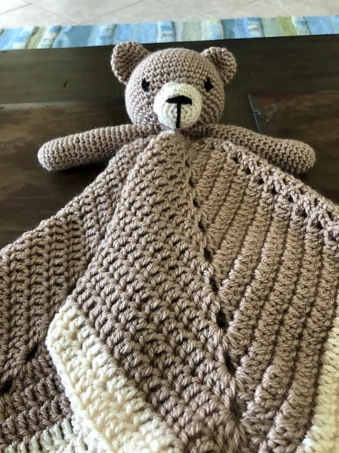 Free Lovey Blanket Security Bear
