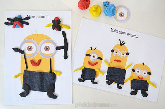 Free Minions Play Dough Mats