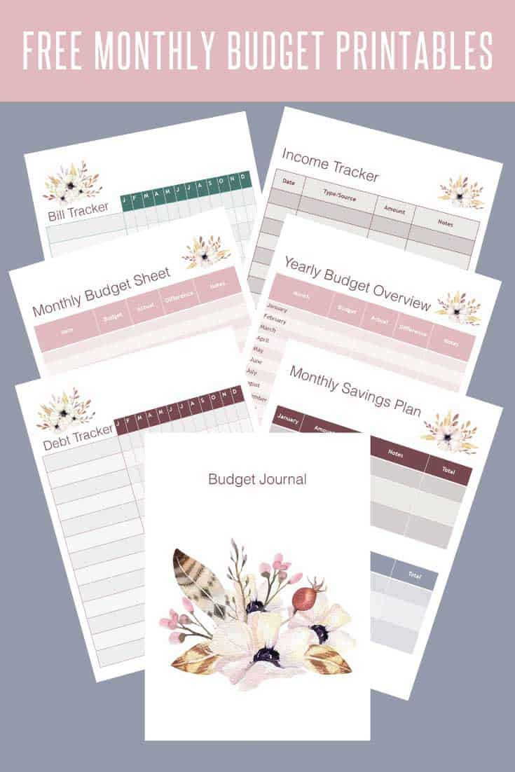 These cute budget journal printables are just what you need to stay on top of your finances. You can manage your income, debts, budgets and savings.