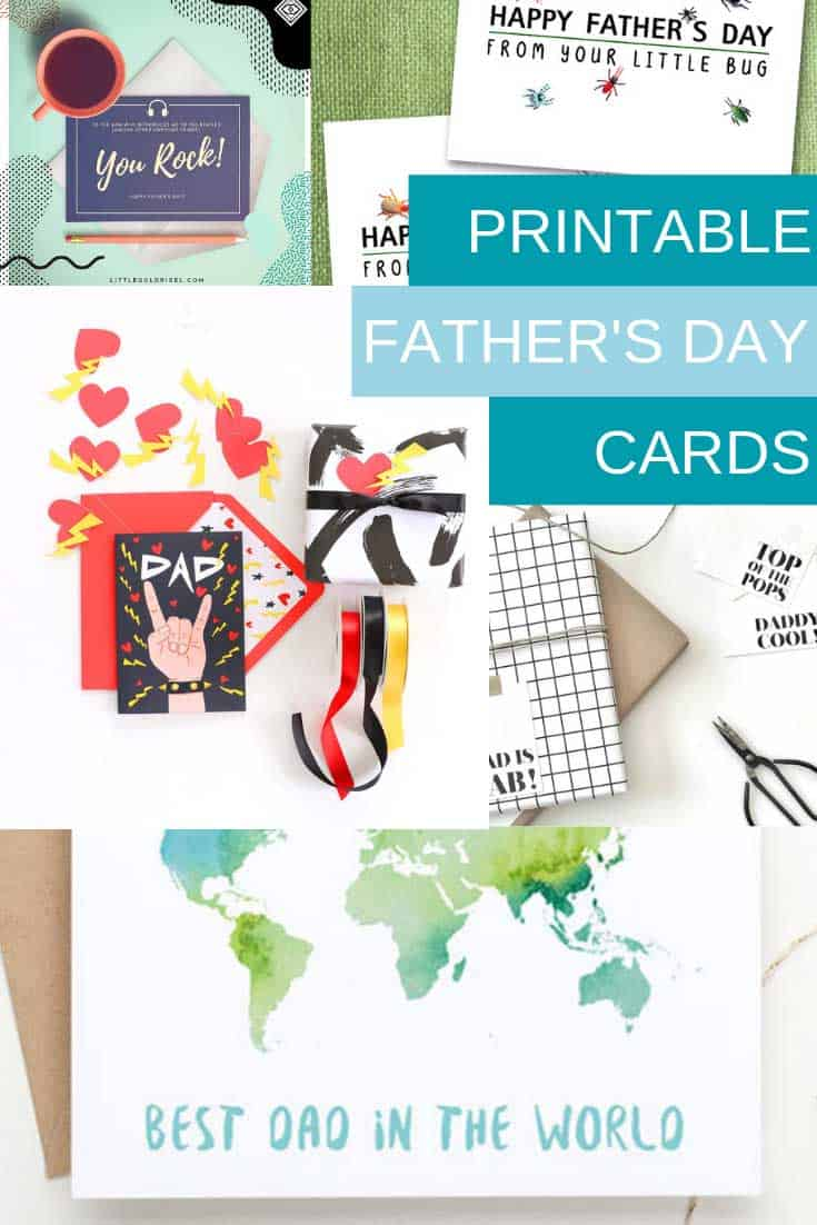 Oh my goodness os many fabulous free printable Father's Day cards that you can just print out and send to dad in June!
